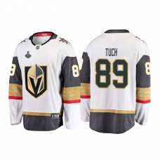 Youth Vegas Golden Knights #89 Alex Tuch 2018 Stanley Cup Final Breakaway Road White Jersey