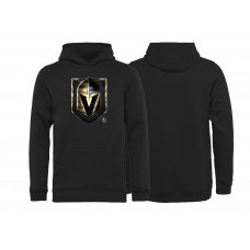 Youth Vegas Golden Knights Black Midnight Mascot Pullover Hoodie