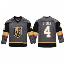 Youth Vegas Golden Knights #4 Clayton Stoner Replica Player 2018 Stanley Cup Final Jersey Gray