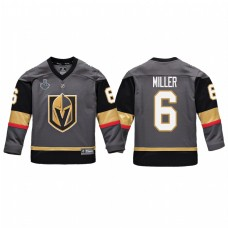 Youth Vegas Golden Knights #6 Colin Miller Replica Player Stanley Cup Final Jersey Gray