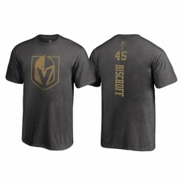 Youth Vegas Golden Knights Jake Bischoff Fanatics Branded 2018 Name and Number Backer Heathered Gray T-Shirt