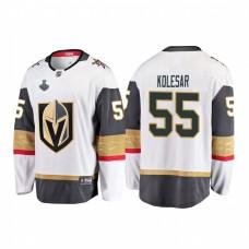 Youth Vegas Golden Knights #55 Keegan Kolesar 2018 Stanley Cup Final Breakaway Road White Jersey