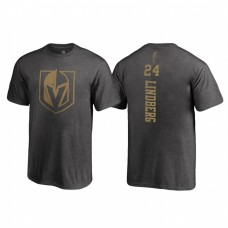 Youth Vegas Golden Knights #24 Oscar Lindberg Fanatics Branded 2018 Name and Number Backer Heathered Gray T-Shirt