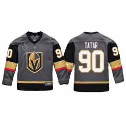 Youth Vegas Golden Knights #90 Tomas Tatar Replica Player 2018 Stanley Cup Final Jersey Gray