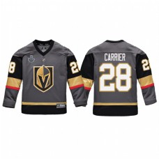 Youth Vegas Golden Knights #28 William Carrier Replica Player 2018 Stanley Cup Final Jersey Gray