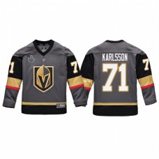 Youth Vegas Golden Knights #71 William Karlsson Replica Player Stanley Cup Final 2018 Jersey Gray