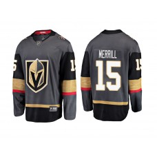 Youth Vegas Golden Knights #81 Jon Merrill Breakaway Premier 2018 Fanatics Gray Jersey